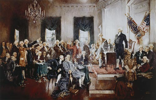 The Signing of the Constitution, by Howard Chandler Christy, 1940 (image courtesy of www.archives.gov).